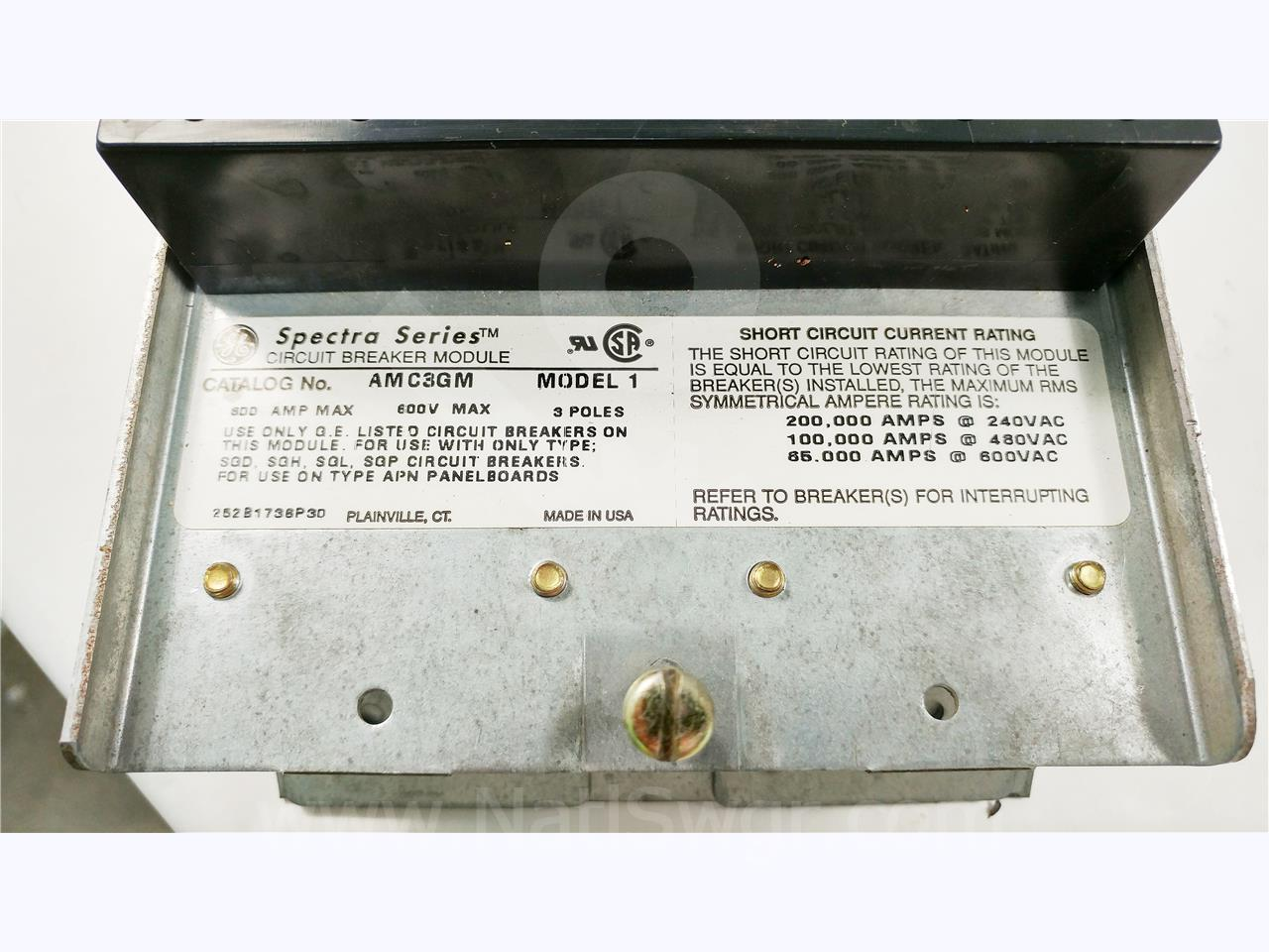 General Electric Ge Spectra Series Circuit Breaker Module 3 Phase Amps In A