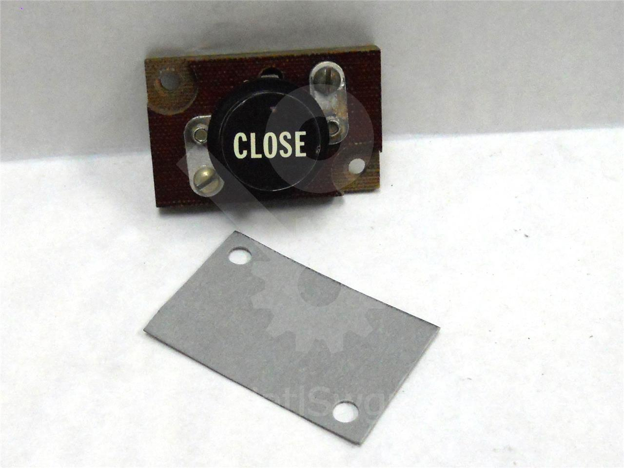 GE LOCAL CLOSE PUSH BUTTON