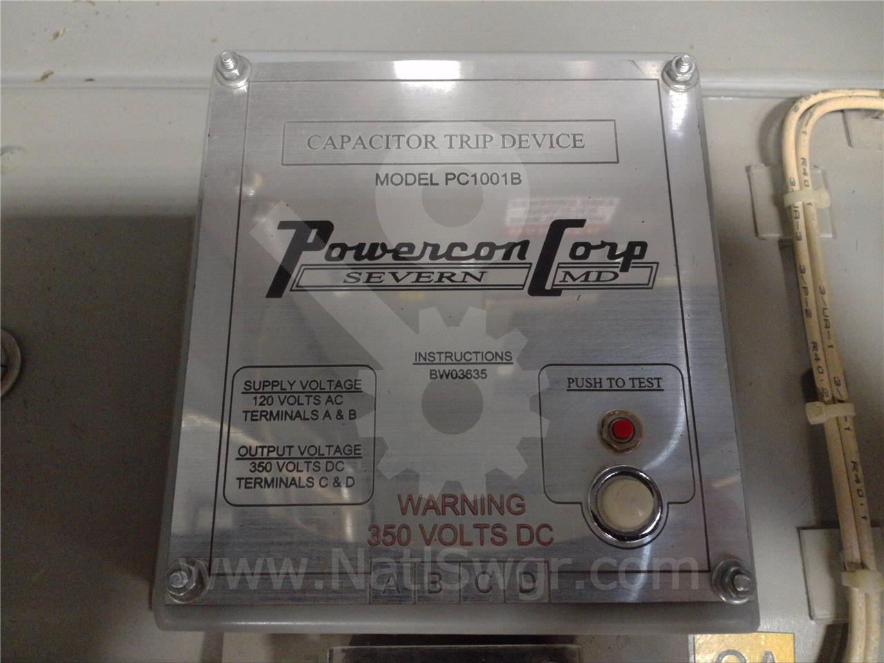 Powercon Powercon 120vac Capacitor Trip Device