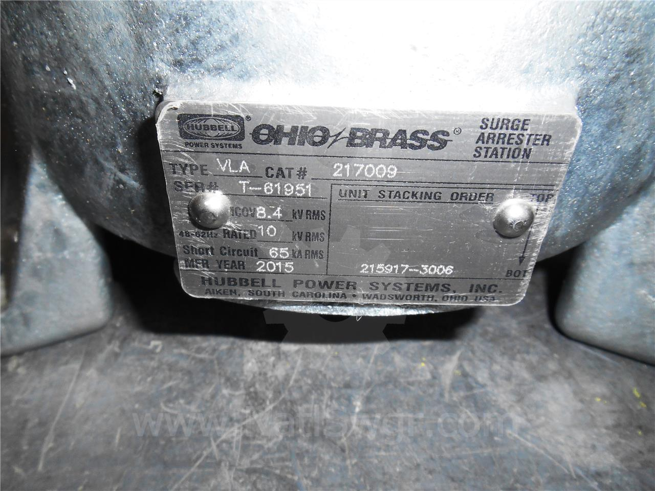 Miscellaneous Other Manufactur OHIO BRASS 10KV SURGE ARRESTOR