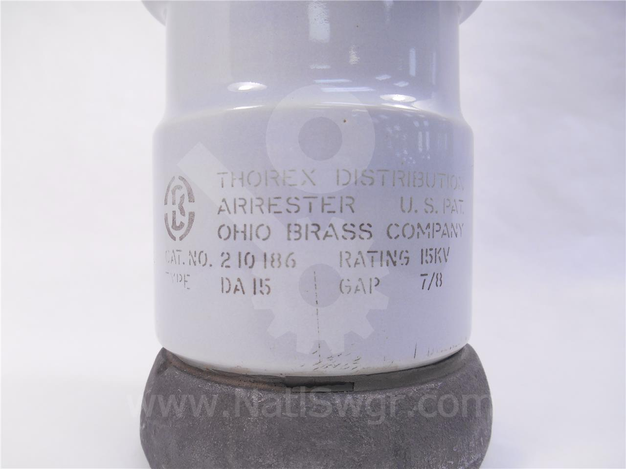 OHIO BRASS 15KV THOREX DISTRIBUTION ARRESTOR