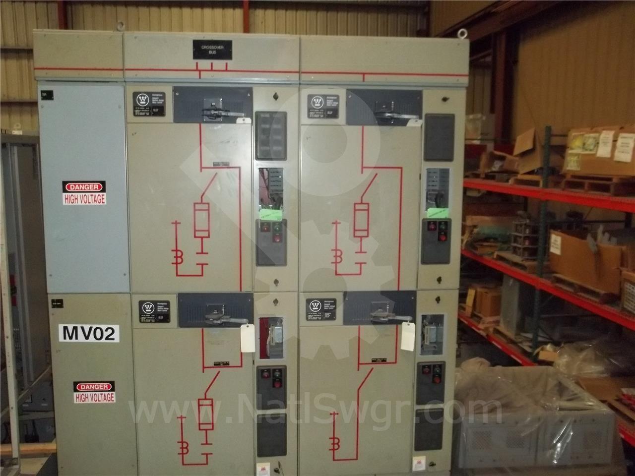 Westinghouse / Cutler Hammer 400A WH SJA VACUUM INDOOR SWITCHGEAR 5KV