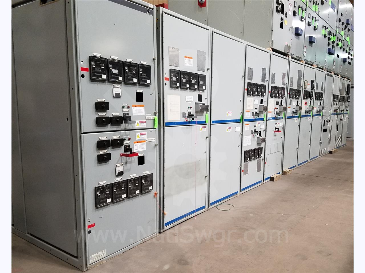 15KV GE / General Electric VB/VB1 INDOOR SWITCHGEAR LINEUP 1-MAIN SECTION, 1- TIE SECTION, 8-FEEDER SECTIONS, 1-PT/CPT SECTION, 1-TIE BUS SECTION