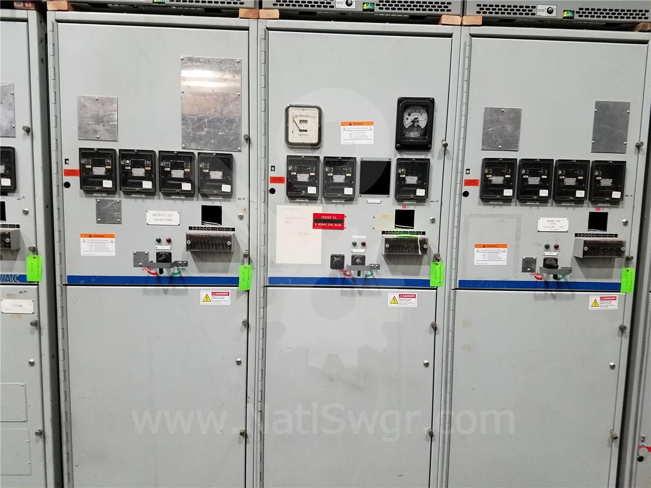 15KV GE / General Electric VB/VB1 INDOOR SWITCHGEAR 1200A BREAKER COMPARTMENT, BLANK, 125VDC CONTROL