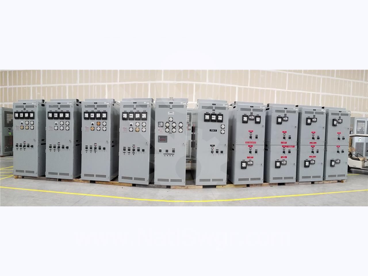 5KV GE / General Electric VB/VB1 INDOOR SWITCHGEAR LINE UP 4-GENERATOR SECTIONS, 1-CONTROL SECTION, 1-TIE SECTION, 4-FEEDER SECTIONS
