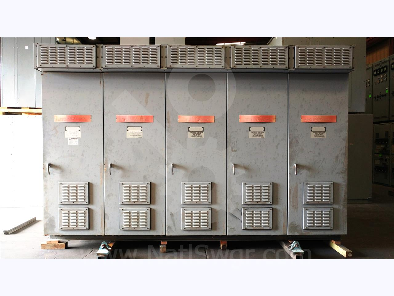 Westinghouse / Cutler Hammer 5KV WH VCP-W OUTDOOR SWITCHGEAR LINEUP 3000A 350MVA