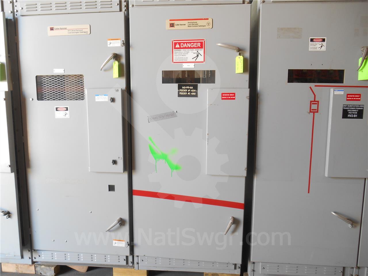 Westinghouse / Cutler Hammer 600A WH WLI SWITCH ID 5KV 80KA 60KV BIL