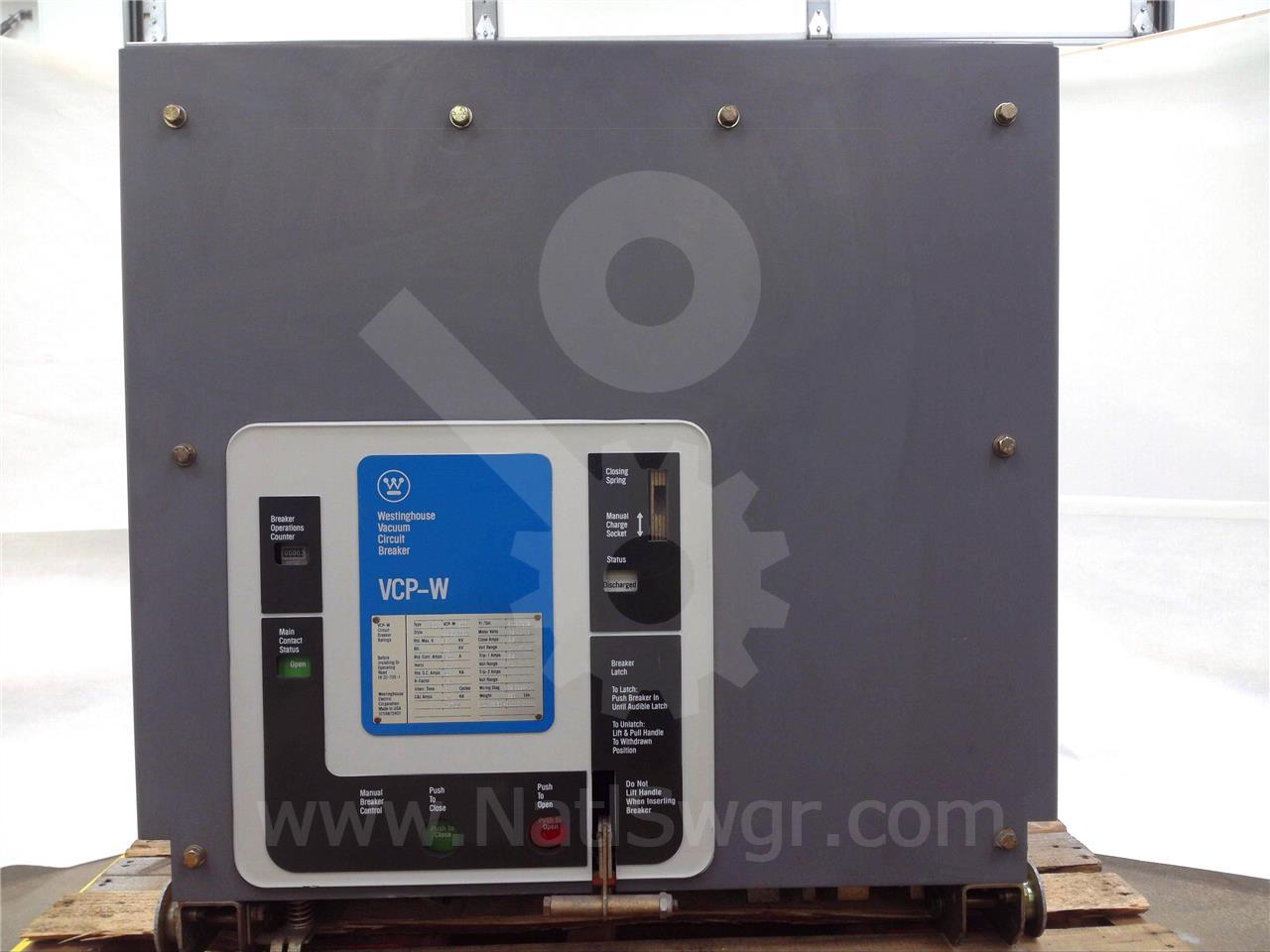 Westinghouse 1200A 150VCP-W500 EO/DO 120VAC CONTROL, 125VDC TRIP