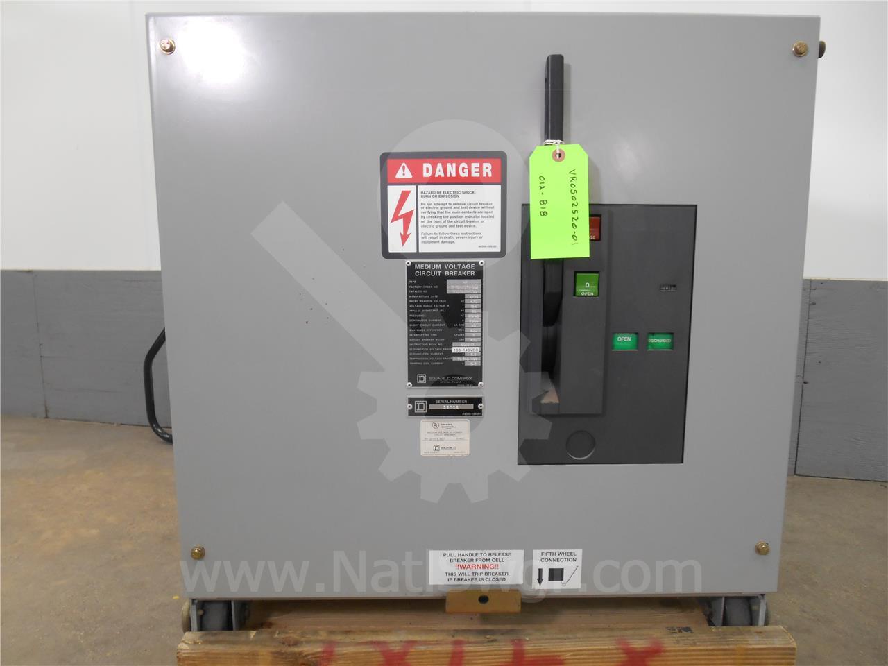 Square D 2000A SQD VAD-5 VR V5D3253Y000 5KV 250MVA