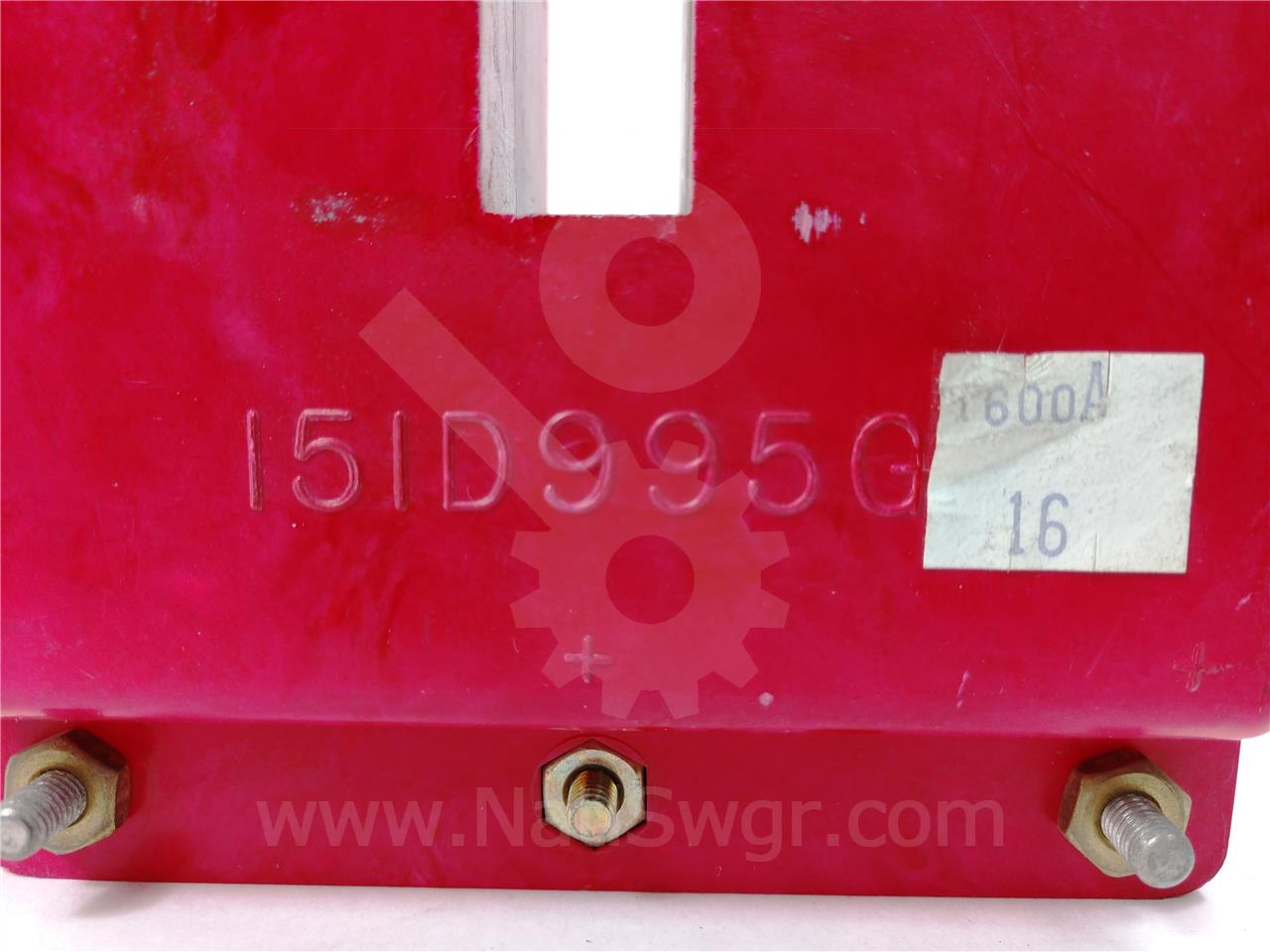 151D995G16 1600A Westinghouse CURRENT TRANSFORMER AMPTECTOR / DIGITRIP FOR DS / DSII