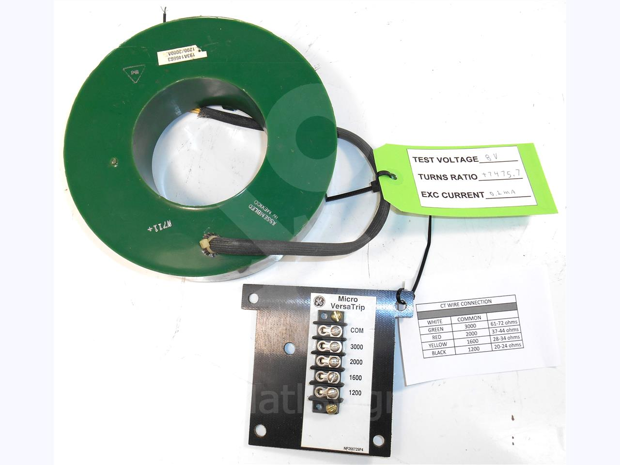 General Electric 1200-3000A GE MULTI RATIO CURRENT TRANSFORMER MVT / ENTELLIGUARD