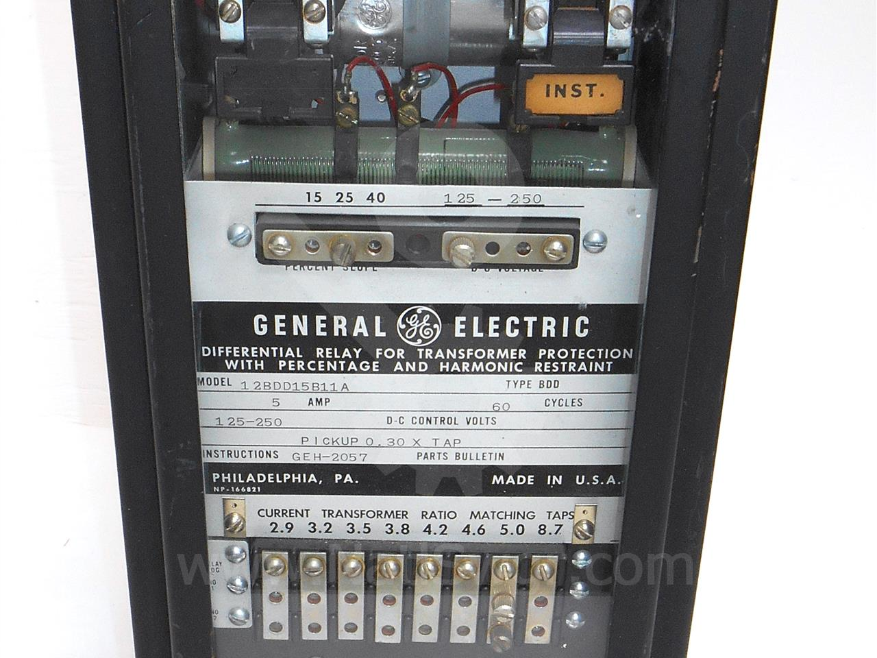 General Electric Ge Bdd Transformer Differential Relay For Electrical