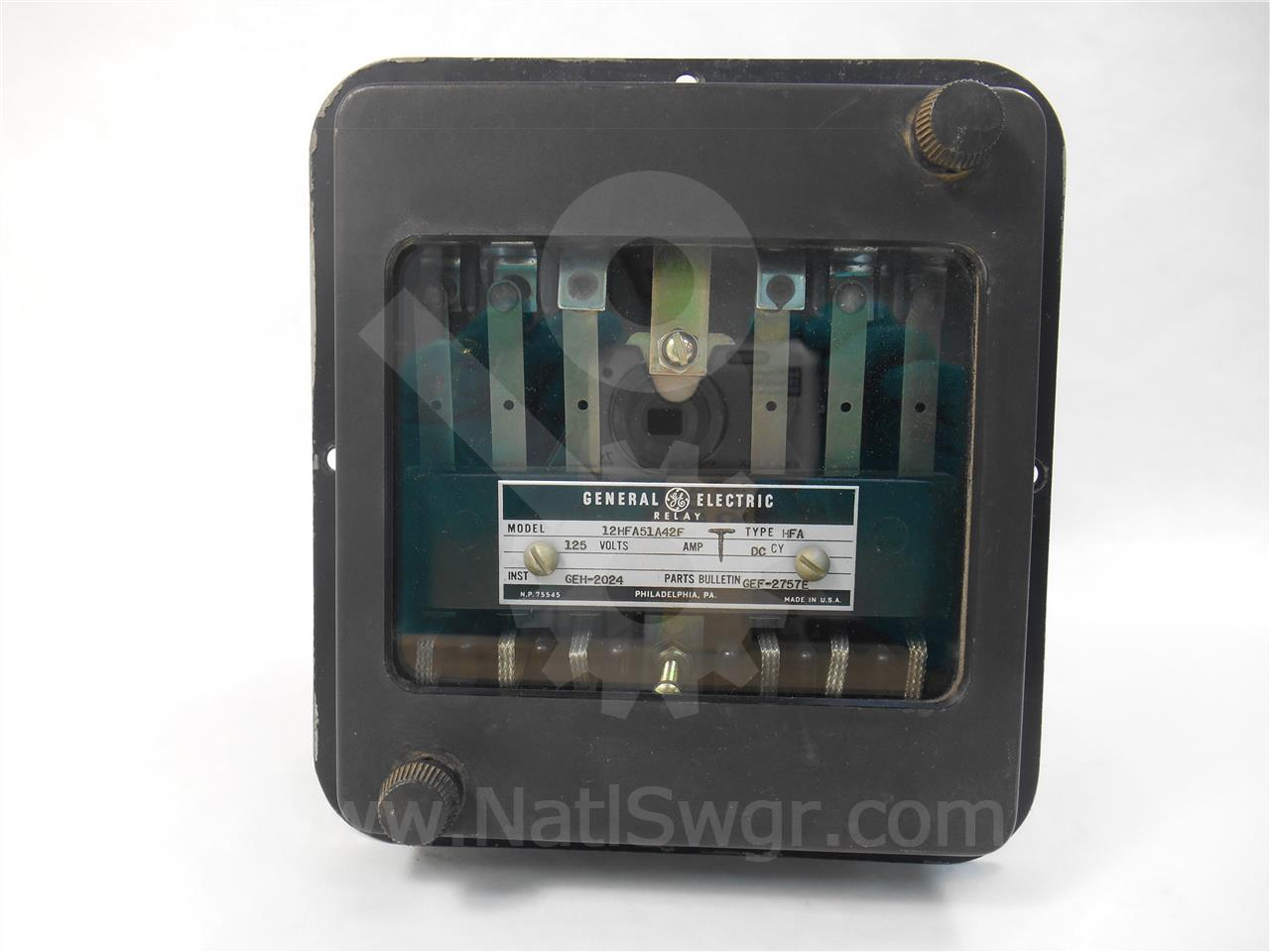 General Electric Ge 12HFA51A42F Type Hfa Auxiliary Relay 125v-dc