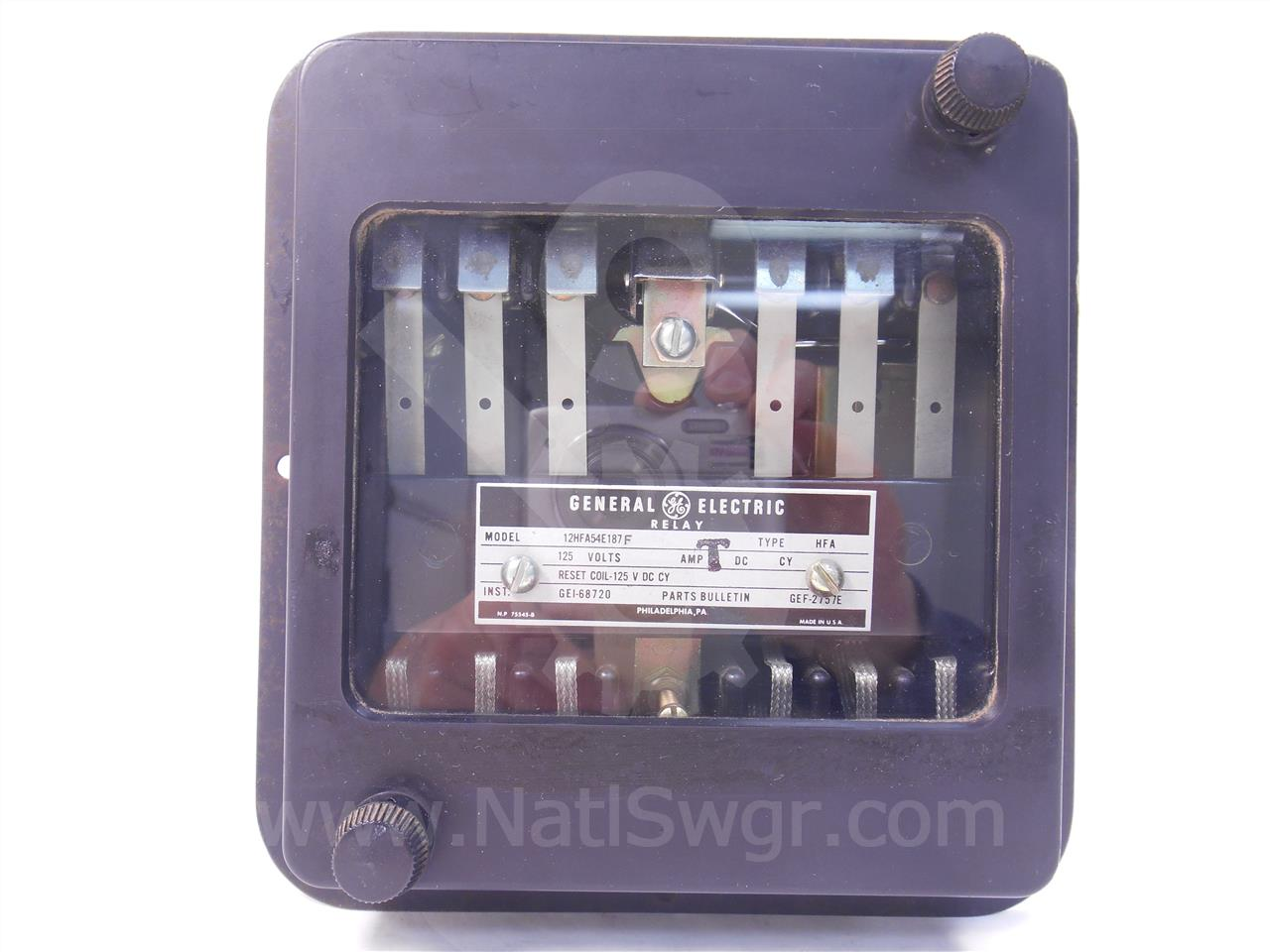 General Electric Ge Hfa Multi Contact Auxiliary Relay Electromagnetic In Pdf
