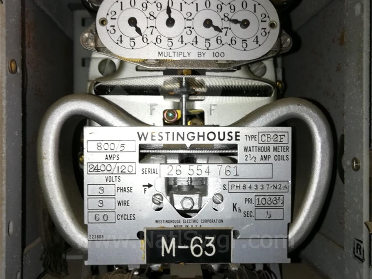PH84337N2A Westinghouse CB-2F WATTHOUR METER RELAY
