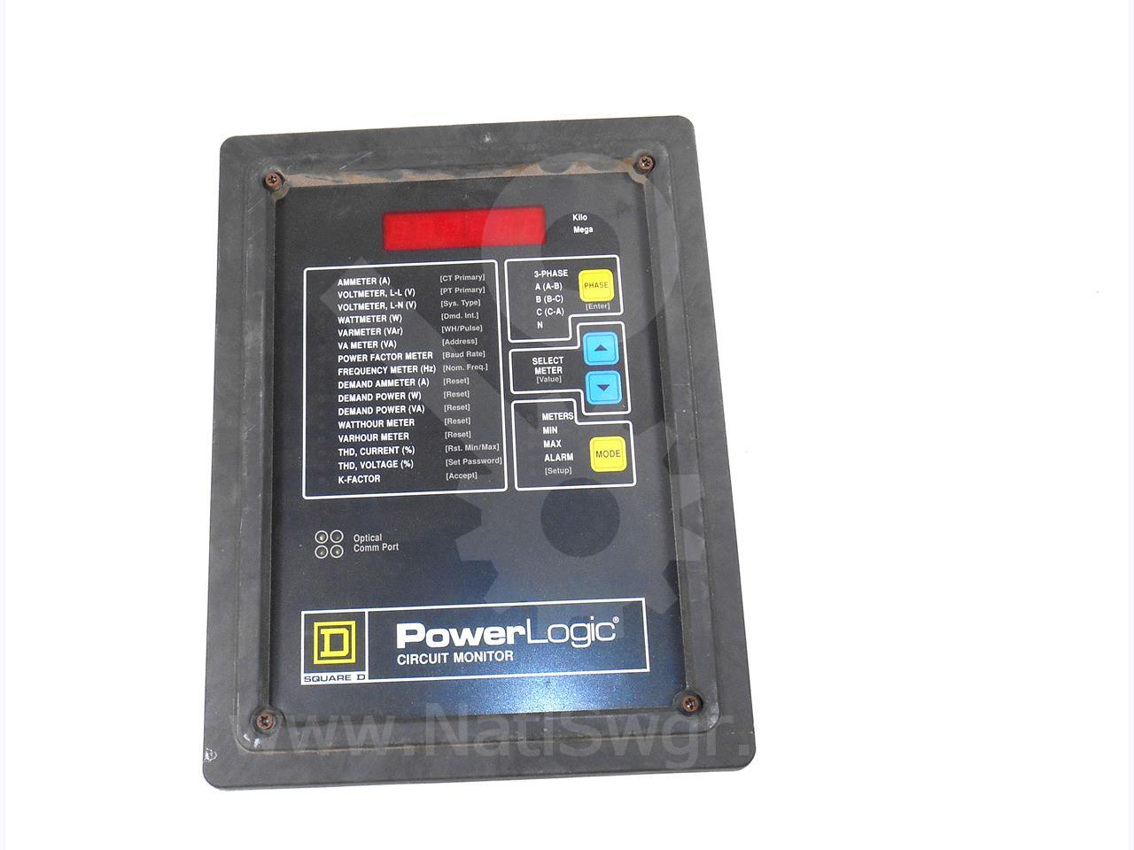 Powerlogic Energy Meter : Square d sqd powerlogic cm circuit monitor