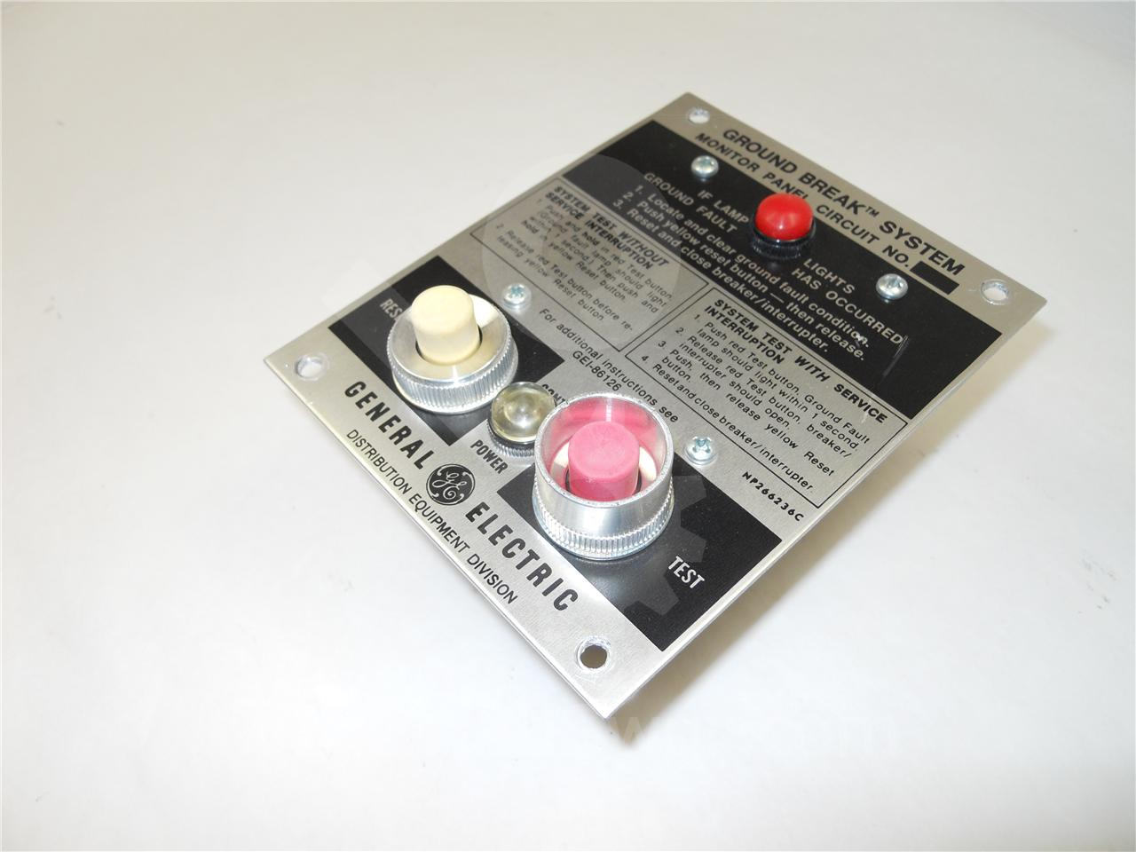 TGSMP GE / General Electric TGS GROUND FAULT MONITOR PANEL  120VAC, WITH INDICATOR LIGHT