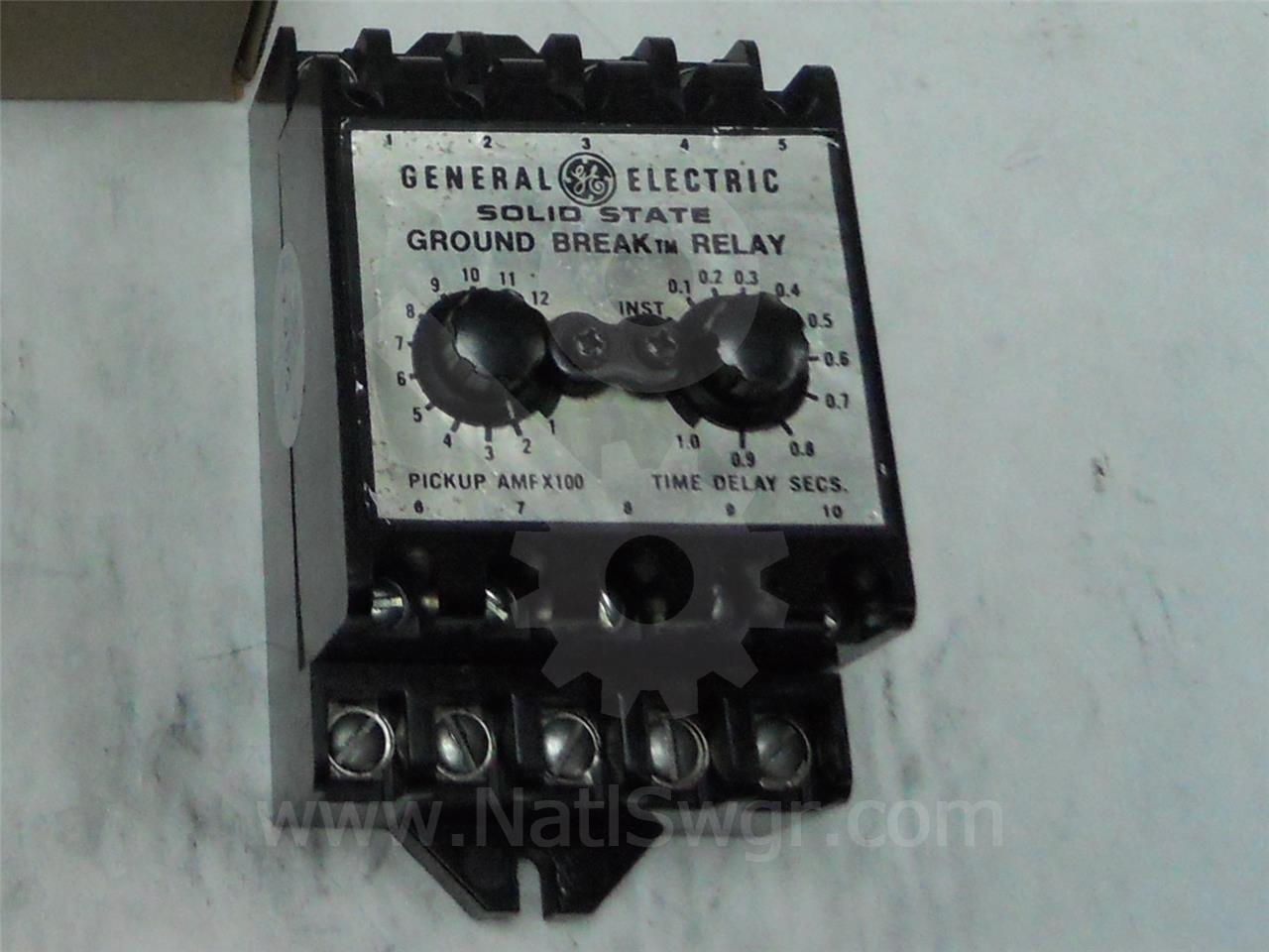 TGSR12Z GE / General Electric TGSR GROUND FAULT RELAY 120VAC, 100-1200A, ADJ TRIP RANGE, WITH ZONE SELECTIVE