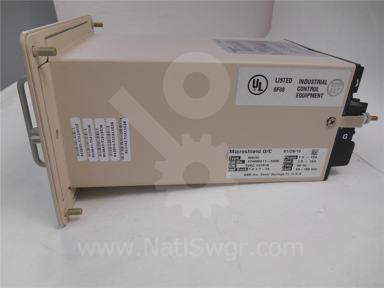 Abb Ite Bbc 50 51 Microshield O C Three Phase Over Current Relay Overcurrent