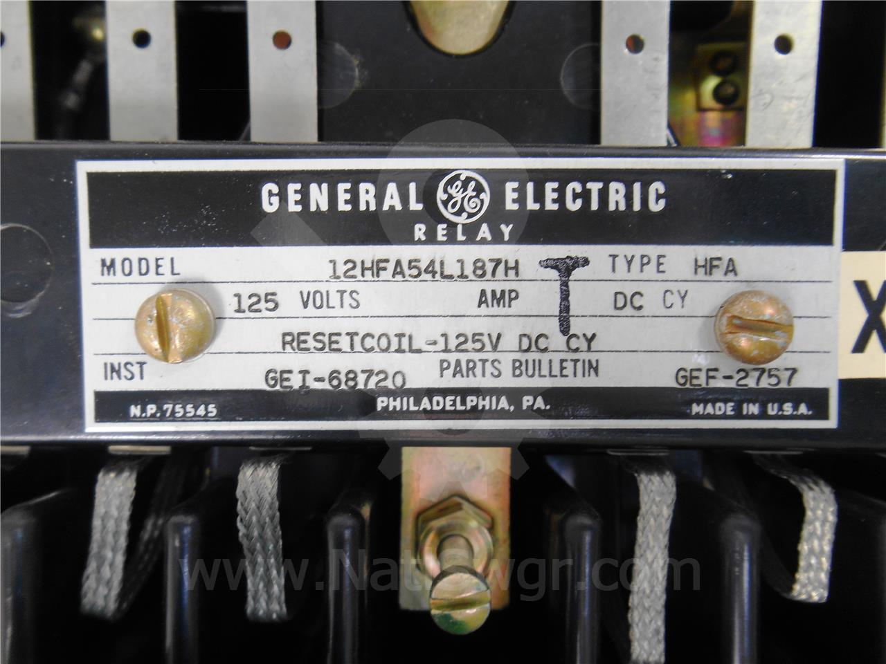 Electric Relay Numbering