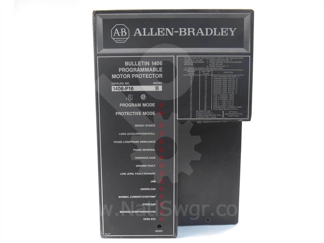 Allen Bradley 1406 P16 Programmable Motor Protector