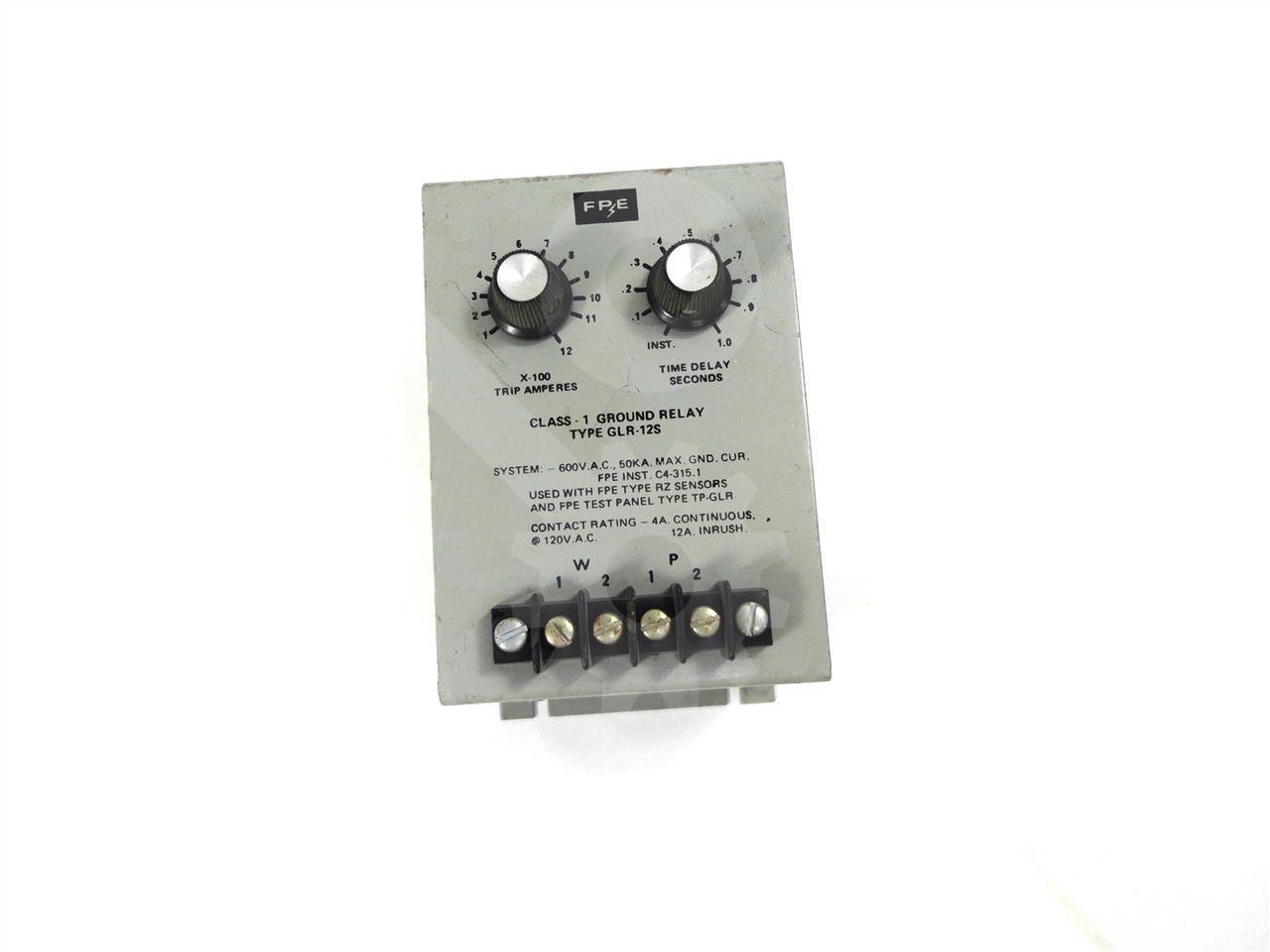 GLR-12S Federal Pacific / Federal Pioneer  GLR GROUND FAULT RELAY