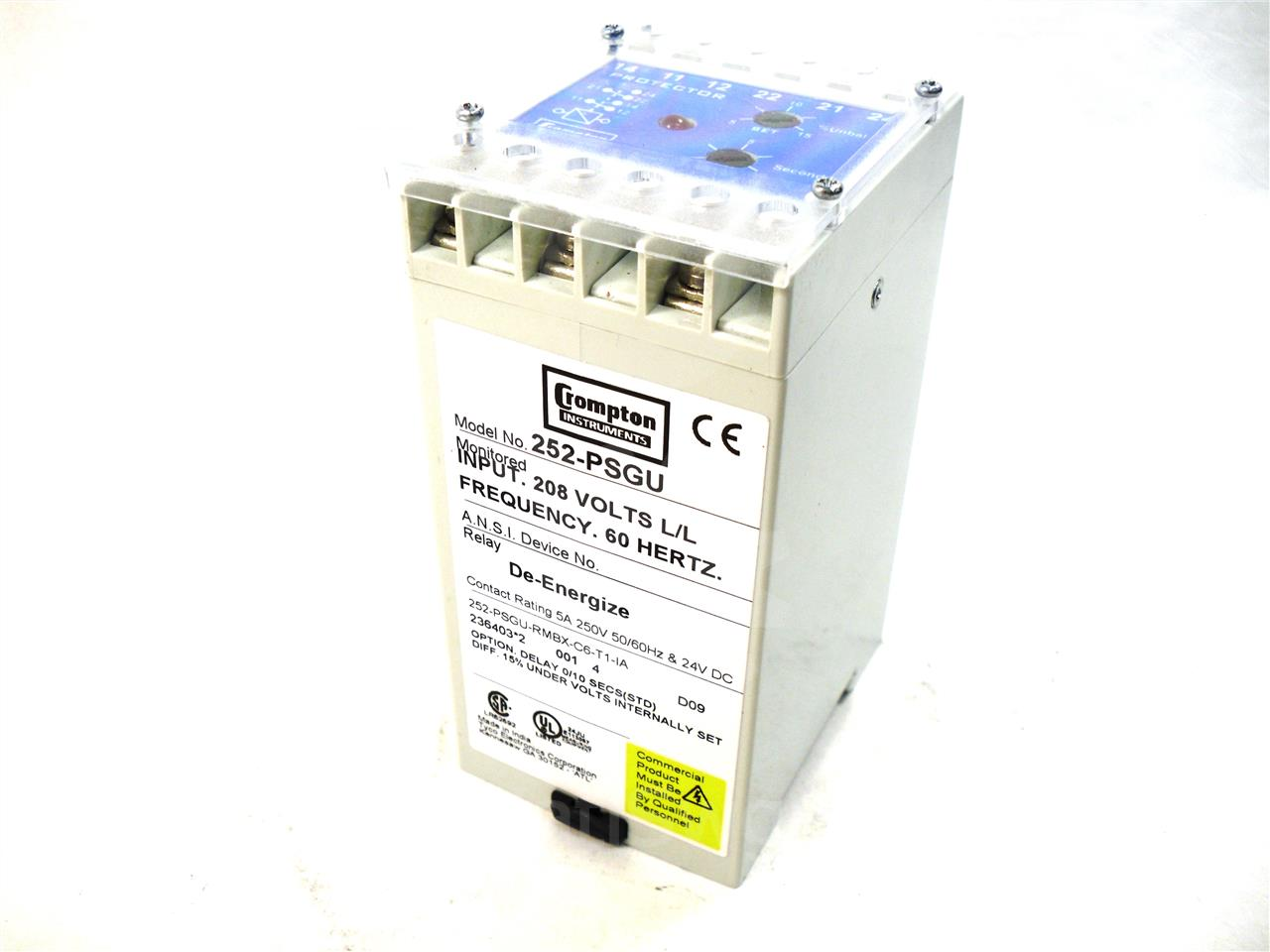 Crompton Phase Balance Relay With Under Voltage New Used In Circuit Breaker