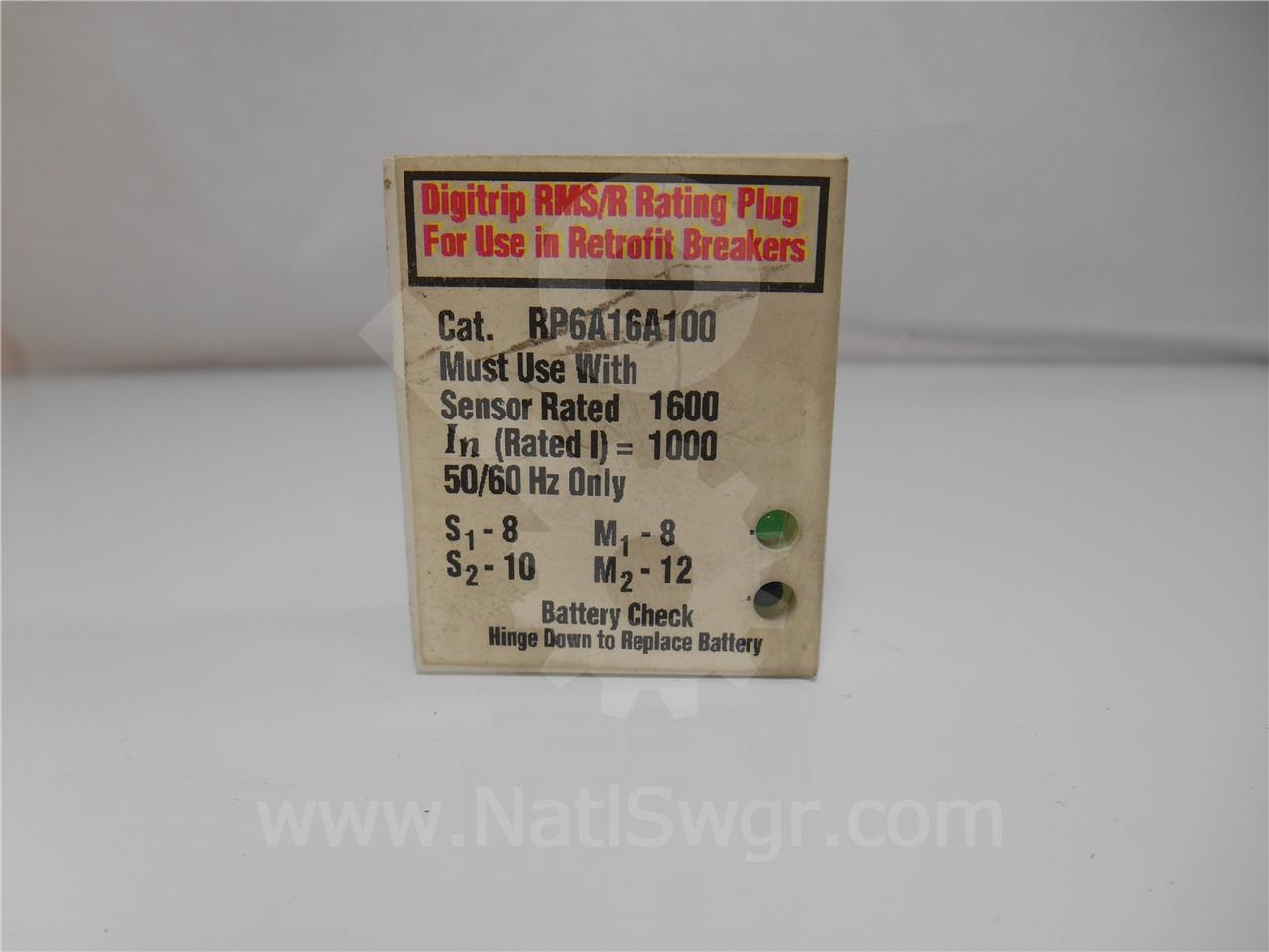 Westinghouse / Cutler Hammer 1000A WH RATING PLUG, 1600A CT