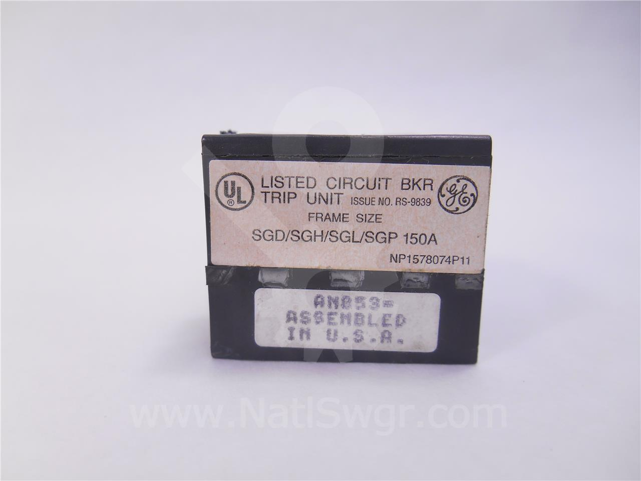 TR20B800 800A GE / General Electric RATING PLUG, 2000A CT FOR MVT PLUS / PM