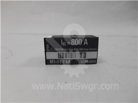 800A CH RATING PLUG 800A CT