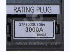 3000A GE RATING PLUG 3000-6400A