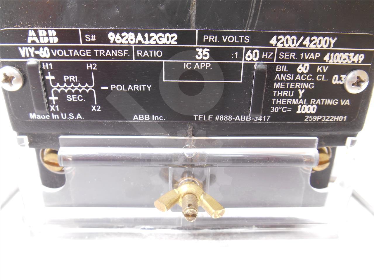 ABB / ITE / BBC ABB 35:1 VIY-60 POTENTIAL TRANSFORMER UNUSED SURPLUS