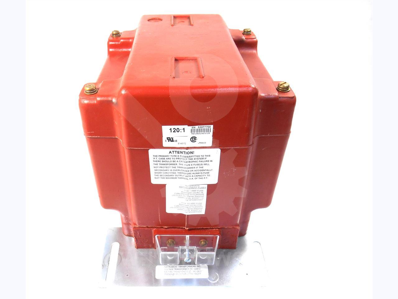 Instrument Transformer ITI 120:1 PTW-5 POTENTIAL TRANSFORMER