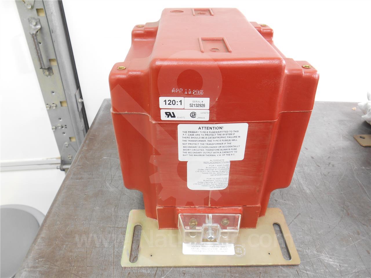 Instrument Transformer ITI 120:1 PTG-5 POTENTIAL ...