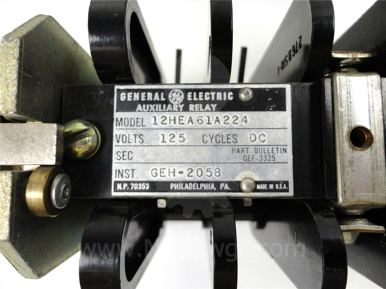 General Electric GE 125VDC HEA LOCK OUT RELAY