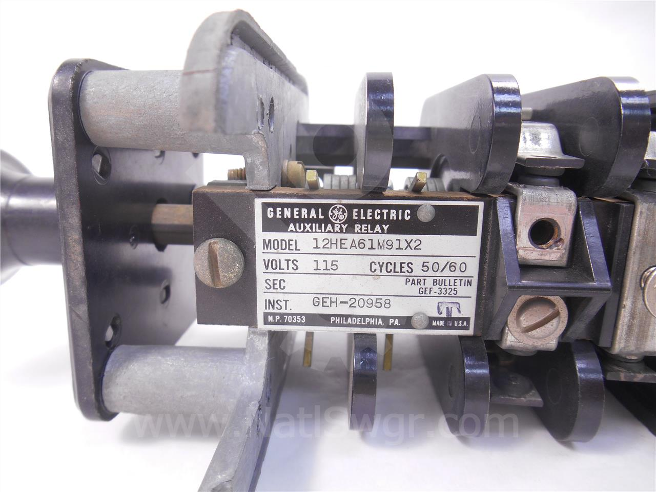 General Electric GE 115VAC HEA LOCK OUT RELAY
