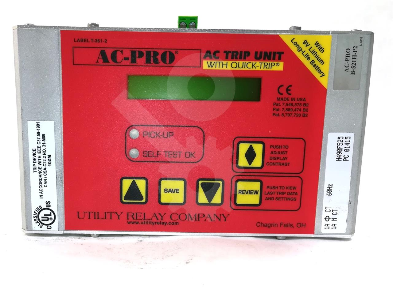 Utility Relay URC AC PRO 1A SOLID STATE PROGRAMMER LSIG
