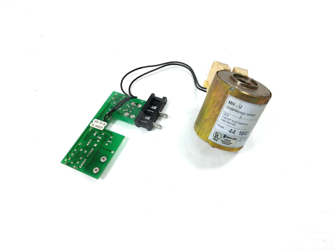 Square D SQD 125VAC/DC UNDER VOLTAGE (UV) DEVICE ASSEMBLY INSTANTANEOUS