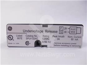 GE 120VAC UNDER VOLTAGE (UV) DEVICE ASSEMBLY INSTANTANEOUS